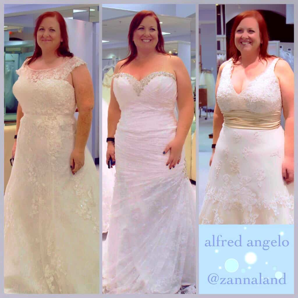 Yours truly in 3 different Alfred Angelo dresses