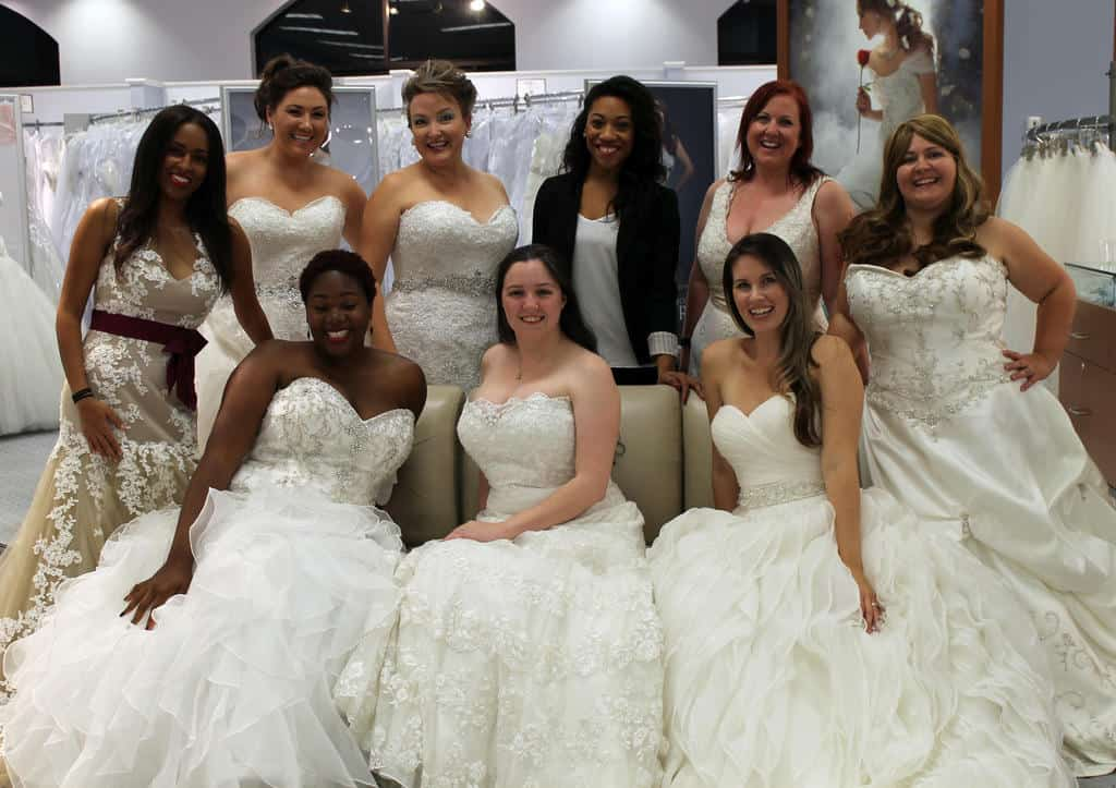 The Alfred Angelo Real Women Brides Bloggers and our amazing consultant, Jocelynn