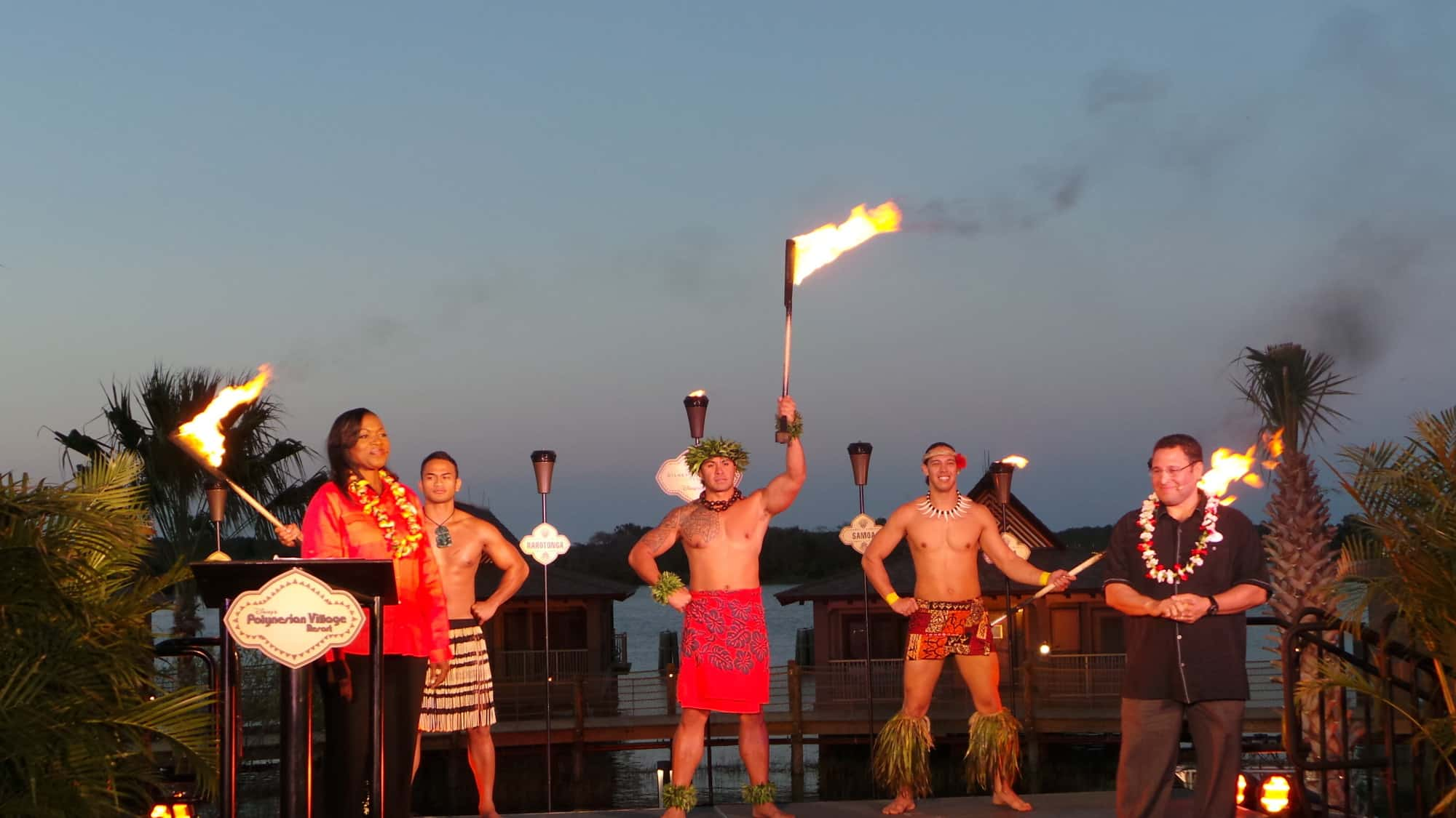 Opening ceremony torch lighting