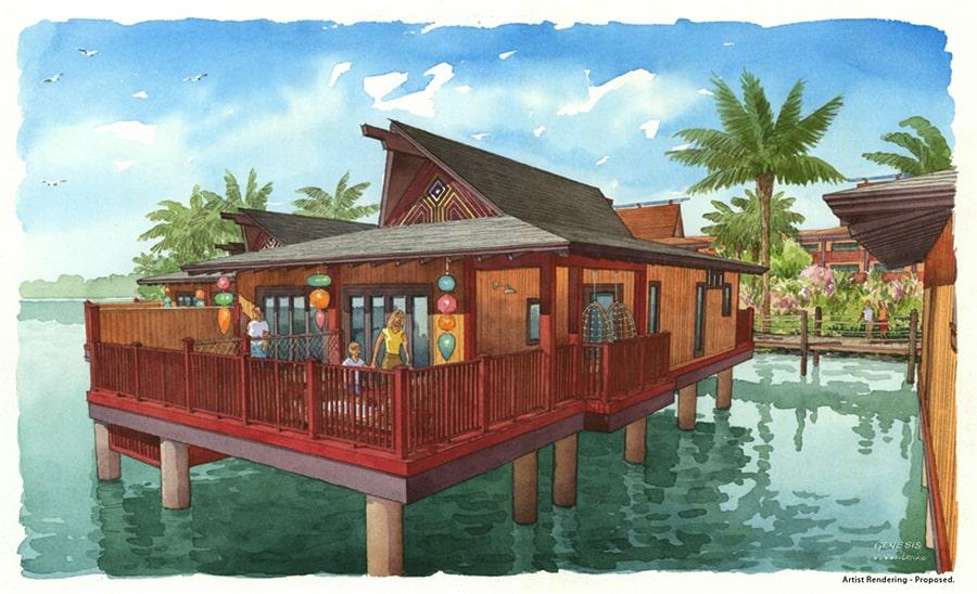 Polynesian Bungalow artist rendering