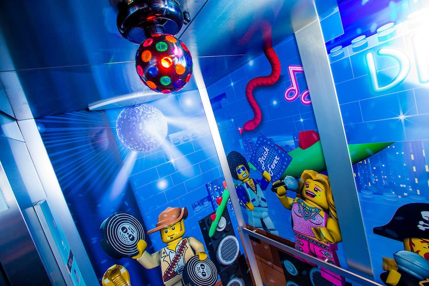 Disco Elevator!  (PHOTO / Elaine Litherland for LEGOLAND Florida/Merlin Entertainments Group Inc.)