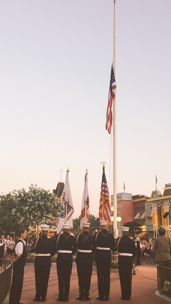 Flag Raising Magic Kingdom CoolestSummerEver