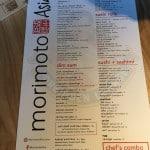 Morimoto Asia Orlando Menu