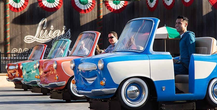 Luigi's Rollickin' Roadsters Opens March 7 in Disney California Adventure
