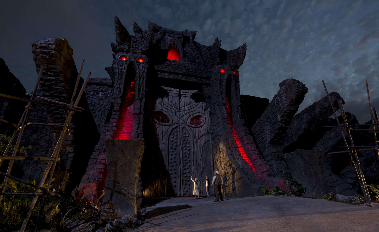 Skull Island Reign of Kong Great Wall Night time shot IOA