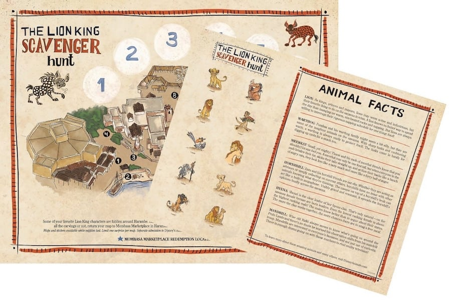 Lion King Scavenger Hunt