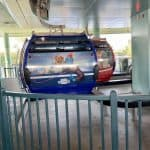 Disney Skyliner cabs loading