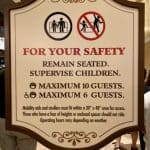 Disney Skyliner safety sign
