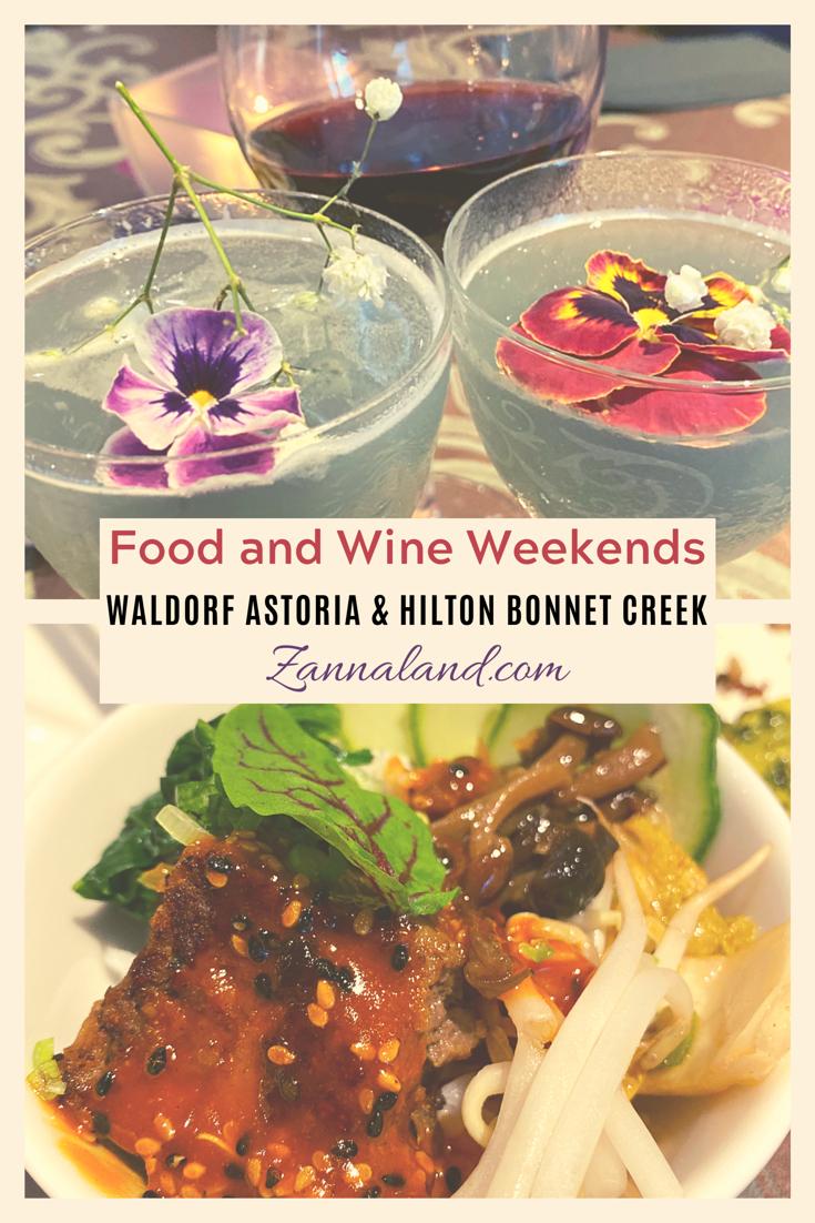 Food and Wine Weekends Hilton Bonnet Creek Waldorf Astoria