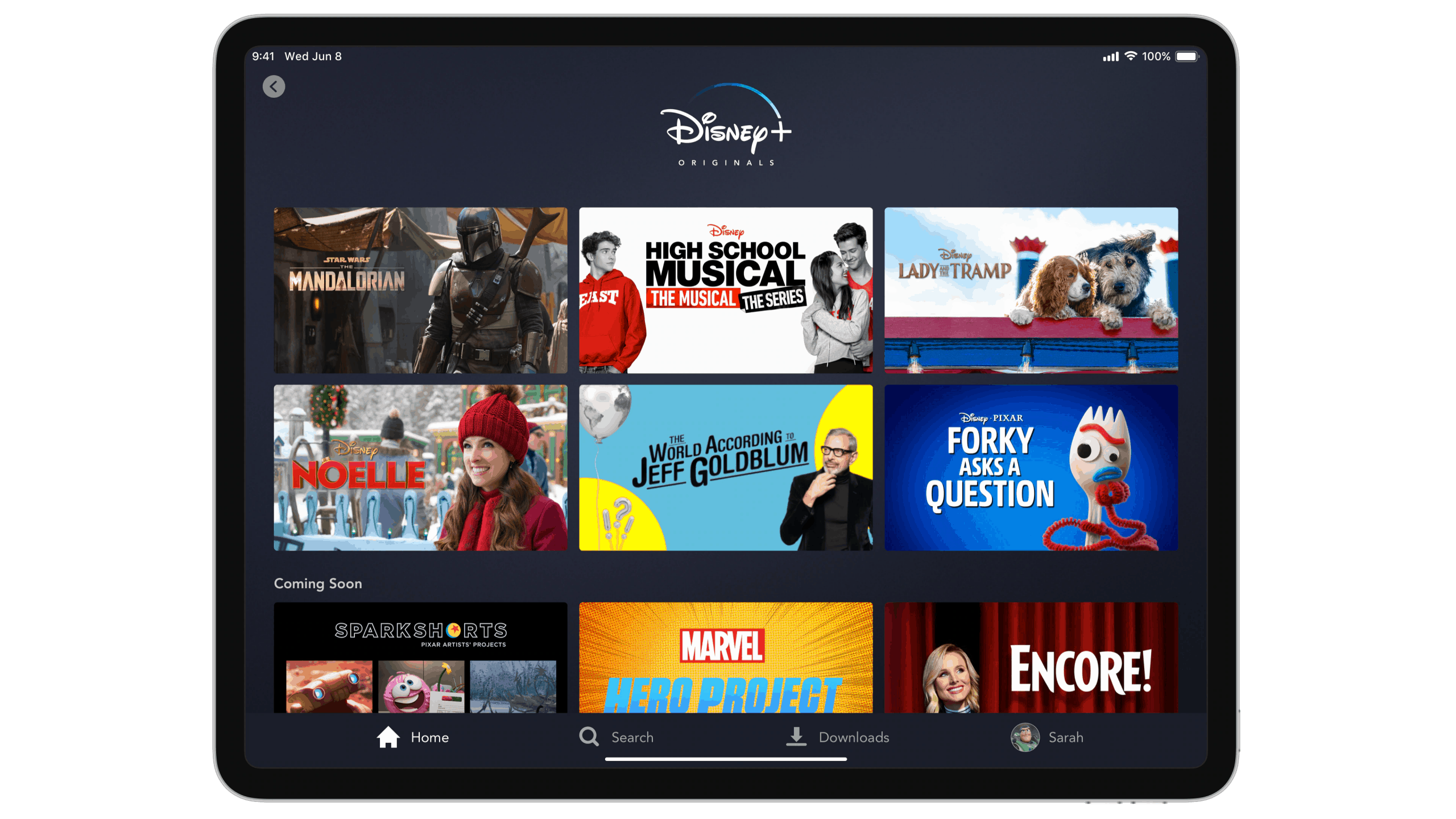 Disney Plus screen