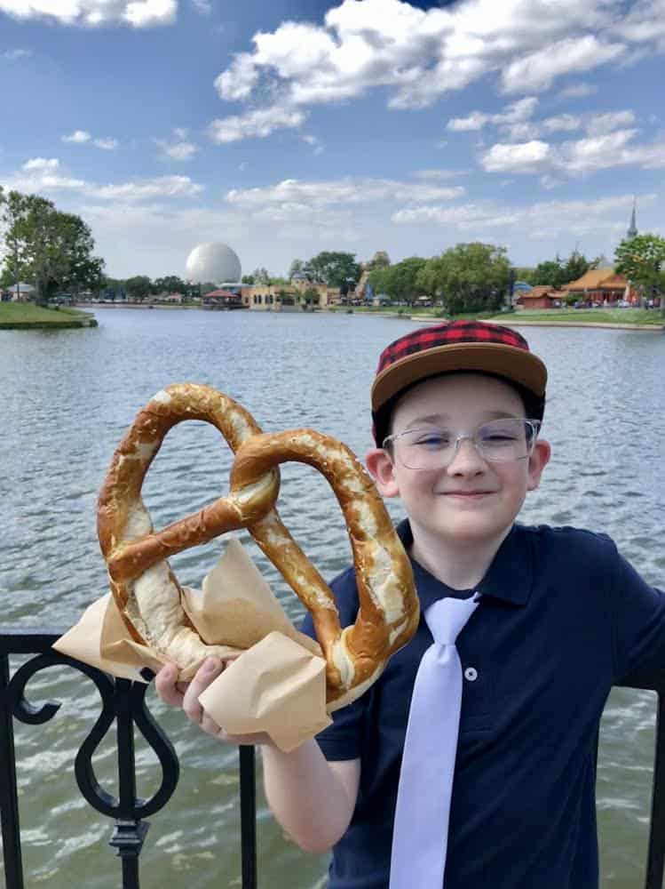 Epcot Germany pretzel