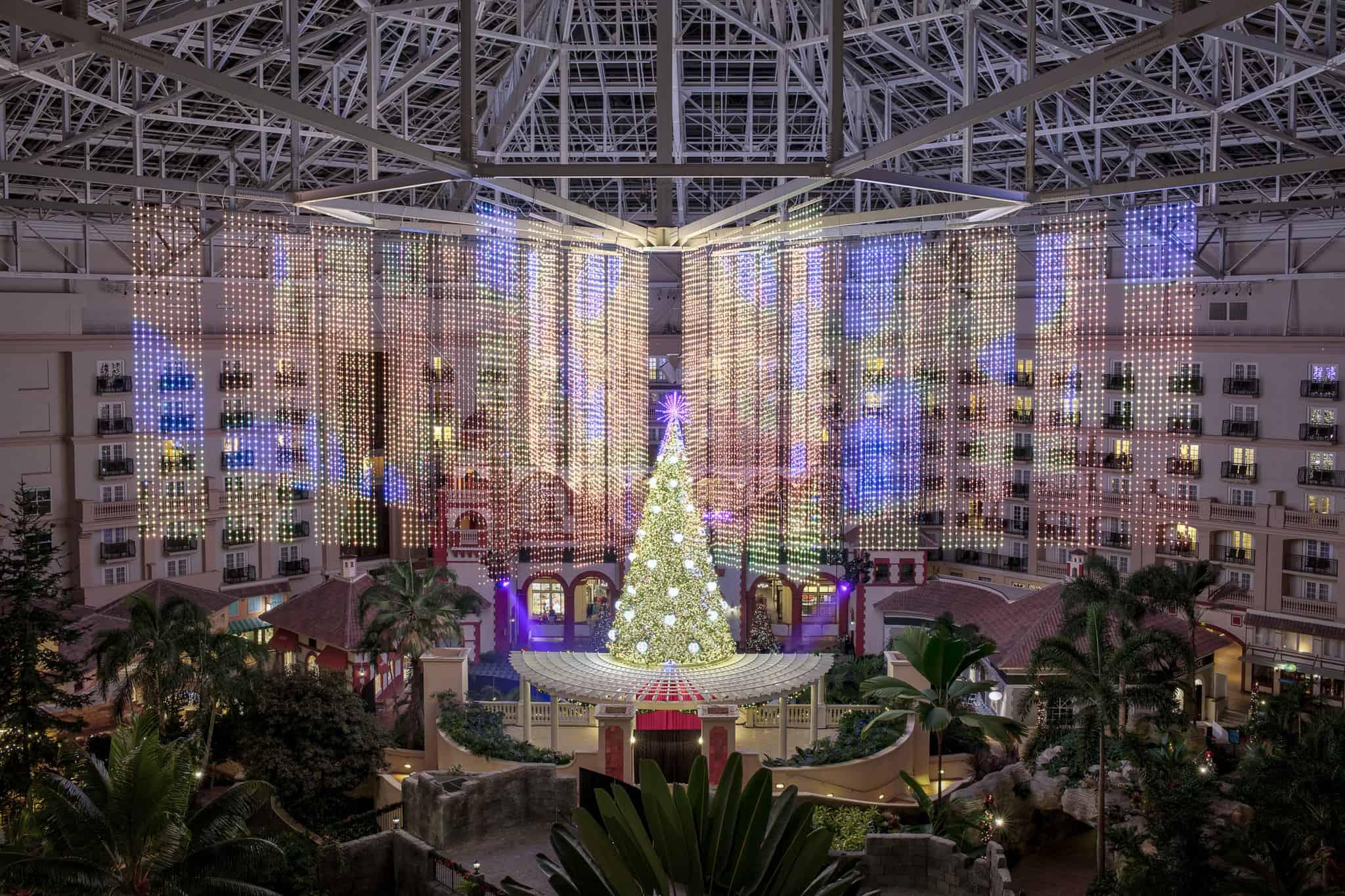 Gaylord Palms Atrium Christmas Lights