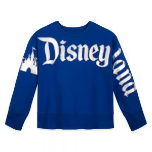 Disneyland Castle long sleeve shirt Wishes Come True Blue