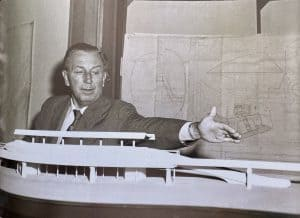 Walt Disney monorail model