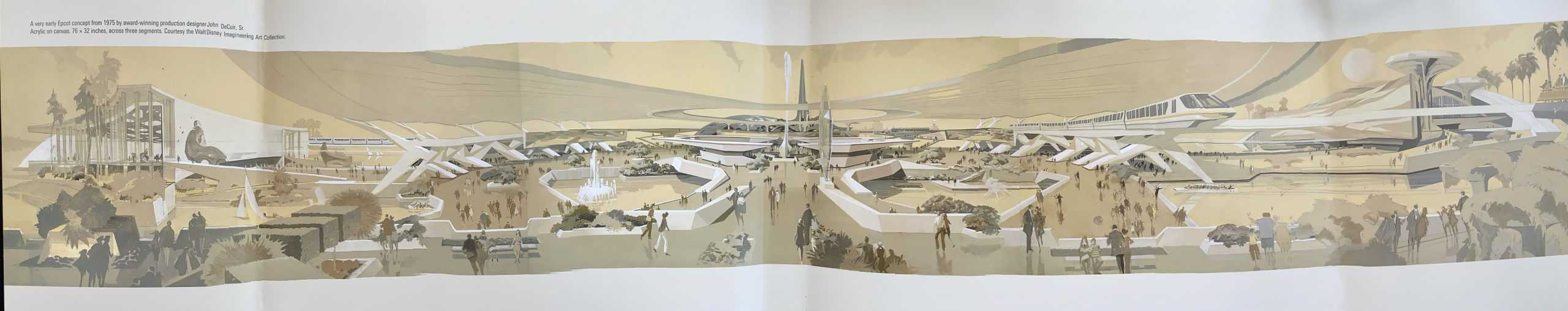 Disney Monorail concept art panorama