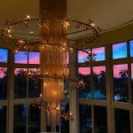 Hilton Bonnet Creek chandelier sunset