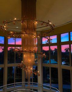Hilton Bonnet Creek chandelier sunset