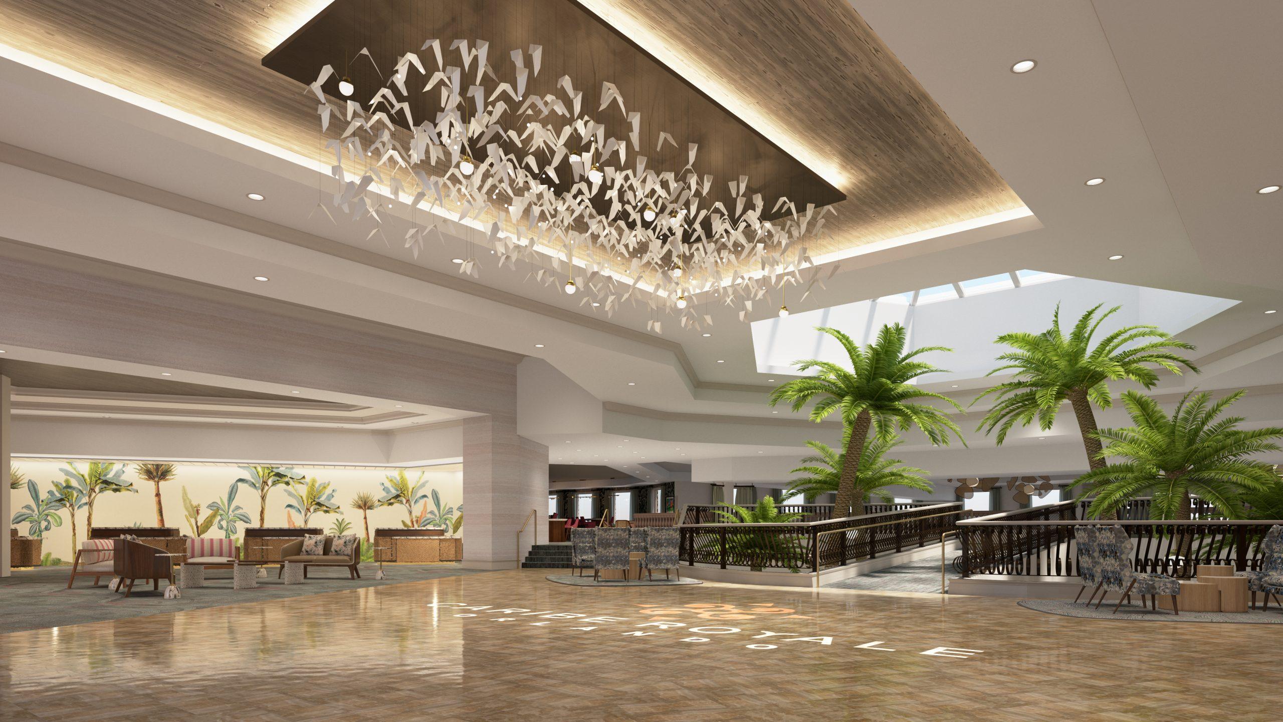 New Caribe Royale lobby
