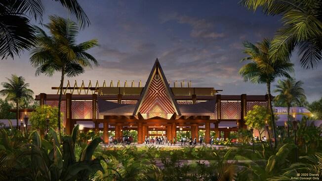 Disney's Polynesian Village Resort Port Cochere artists rendering