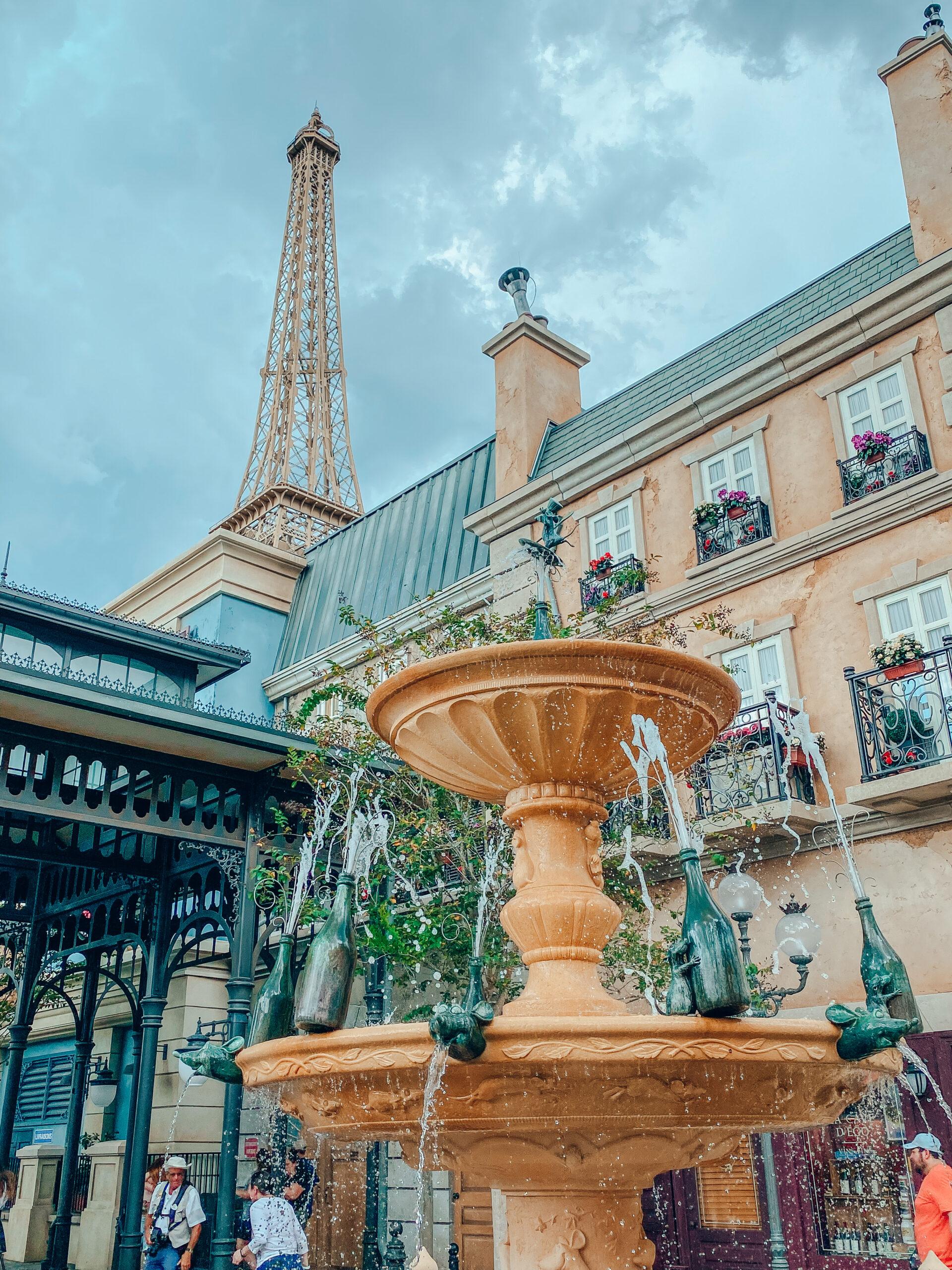 Remy's Ratatouille Adventure fountain